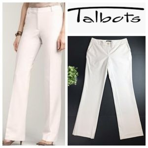 Talbot's Signature Boot Beige Stretch Trouser Pant